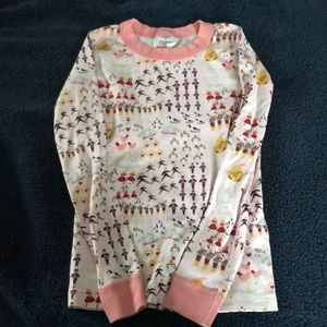 Hanna Andersson pajama top girls 130 size 8 pink